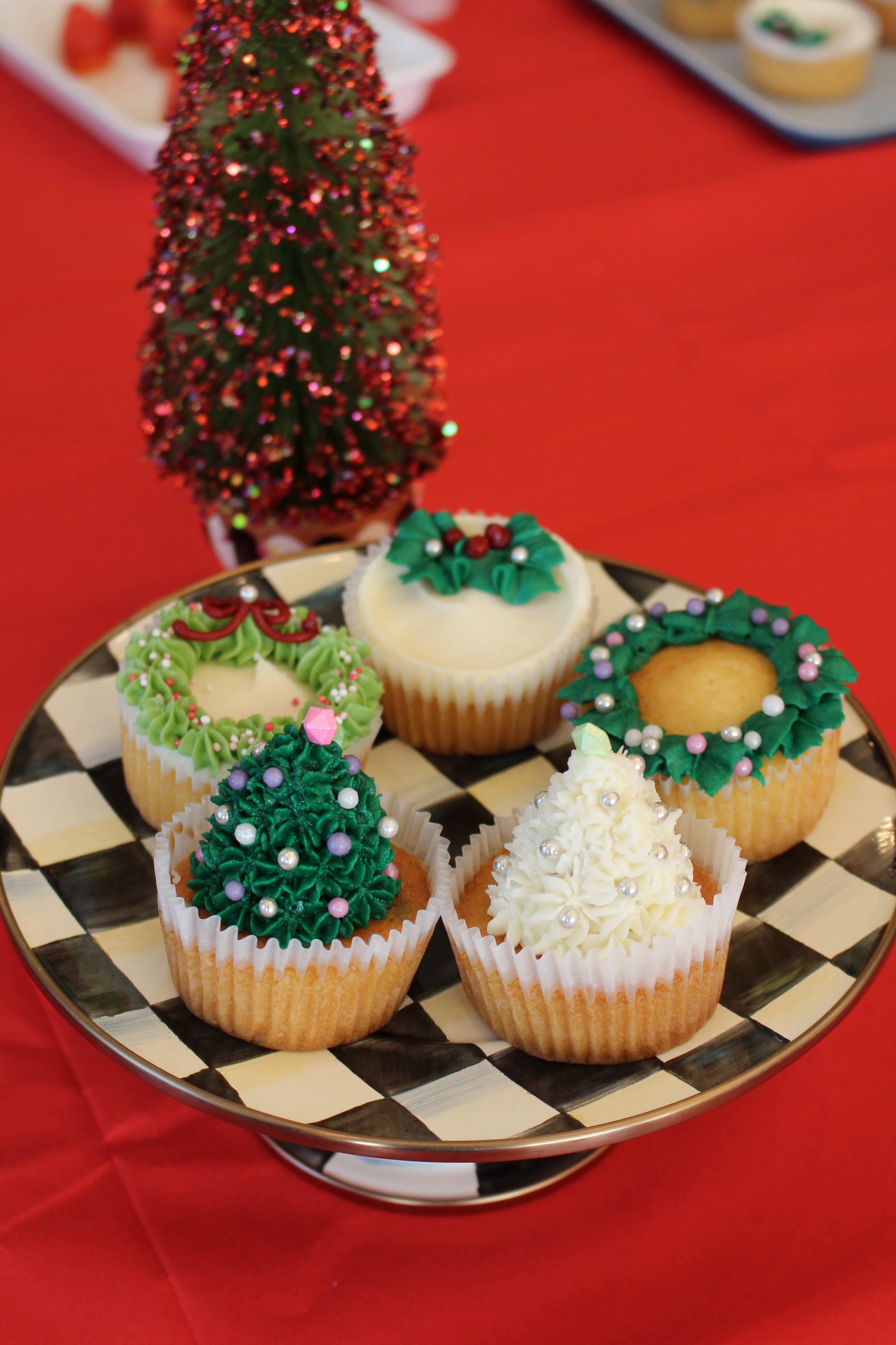 クリスマスカップケーキレッスン
